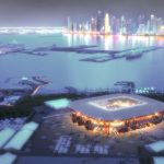Football Stadium World Cup 2022 Qatar Made Of Shipping Containers