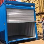 Storage Container With Electric Shutter